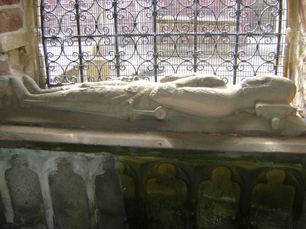 The effigy of Kenneth MacKenzie of the Battle at Beauly Priory