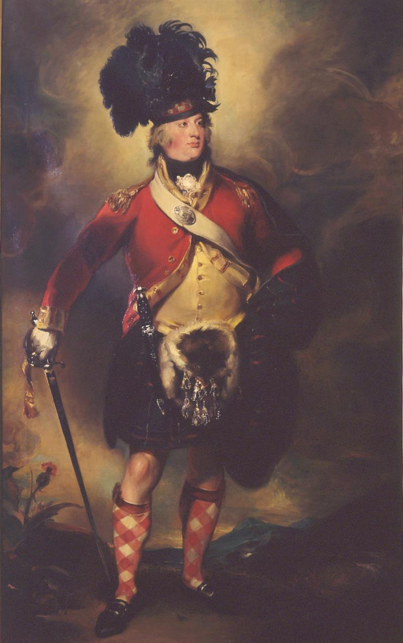William Dyce's portrait of Francis Humberston-MacKenzie shown in the uniform of the 78th or Seaforth Highlanders